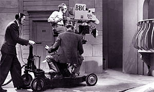 An Emitron camera in use by the BBC