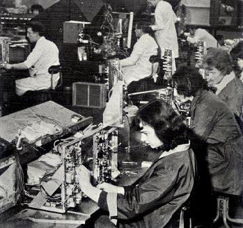 The Baird TV set factory in Bradford, West Yorkshire, 1968