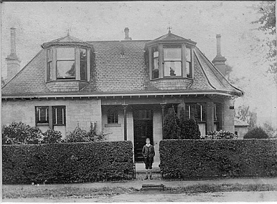 a black and white photograph of The Lodge