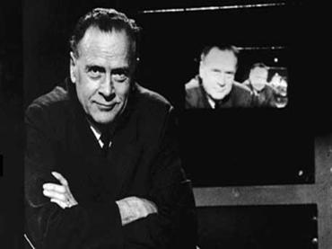 a photograph of Marshall McLuhan