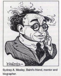 A caricature of Sydney Moseley