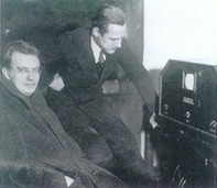 John Logie Baird with Manfred von Ardenne