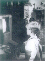 John Logie Baird with his son, Malcolm