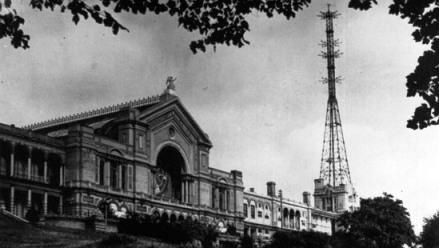 An exterior view of the Alexandra Palace, London
