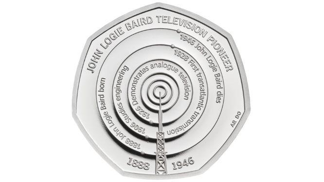 2021 John Logie Baird 50 pence coin