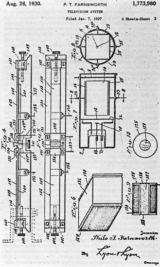diagrams from one of Farnsworth's patents