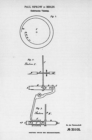 Paul Nipkow's patent for an Electric Telescope
